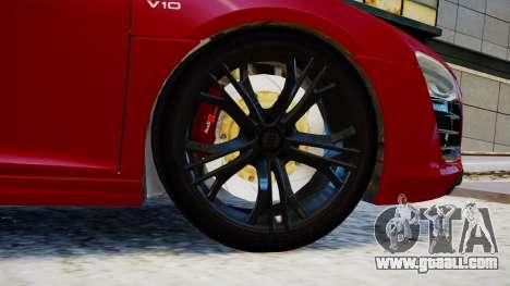 Audi R8 V10 Plus 2014 v1.0 for GTA 4 back left view