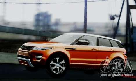 Range Rover Evoque 2014 for GTA San Andreas