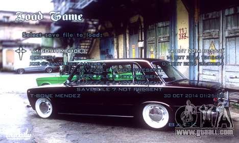 Menu Russian Cars for GTA San Andreas forth screenshot