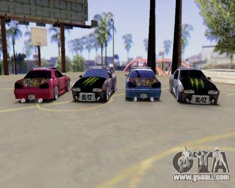 Elegy v2.0 for GTA San Andreas back view