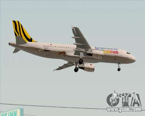 Airbus A320-200 Tigerair Philippines for GTA San Andreas inner view