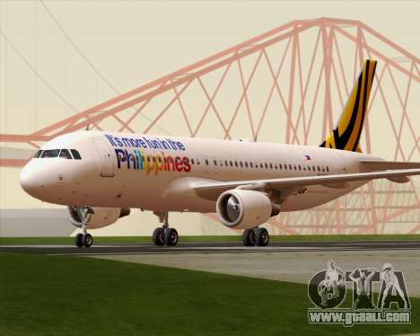 Airbus A320-200 Tigerair Philippines for GTA San Andreas left view