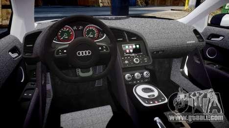 Audi R8 V10 Plus 2014 for GTA 4 inner view