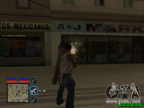 C-HUD Only Ghetto for GTA San Andreas third screenshot