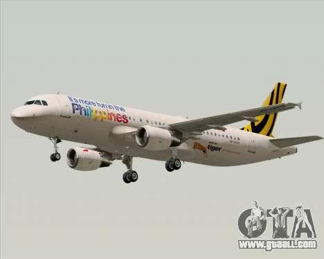 Airbus A320-200 Tigerair Philippines for GTA San Andreas wheels