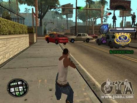 C-HUD Police S.A.P.D for GTA San Andreas second screenshot