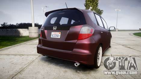 Honda Fit 2006 for GTA 4 back left view