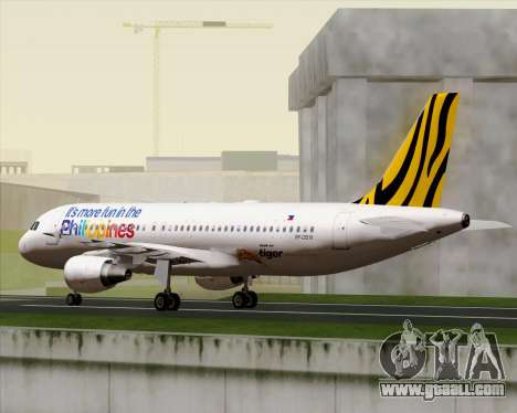 Airbus A320-200 Tigerair Philippines for GTA San Andreas side view