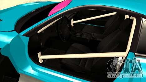 Toyota Supra Blue Lightning for GTA San Andreas back view