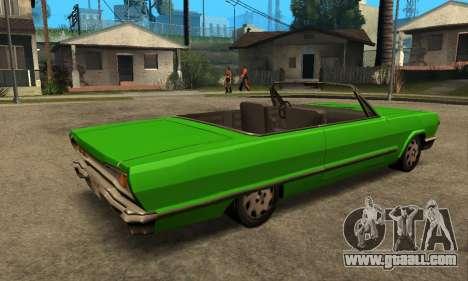 Beta Savanna for GTA San Andreas back view
