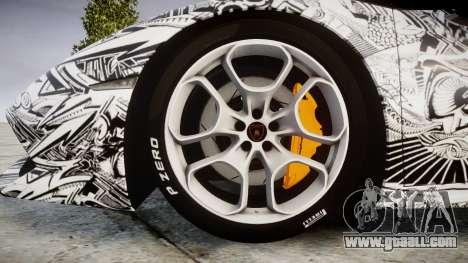 Lamborghini Huracan LP610-4 2015 Sharpie for GTA 4 back view