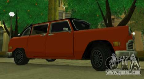 Cabbie Restyle for GTA San Andreas left view
