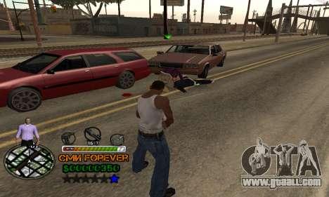 C-HUD СМИ FOREVER for GTA San Andreas forth screenshot