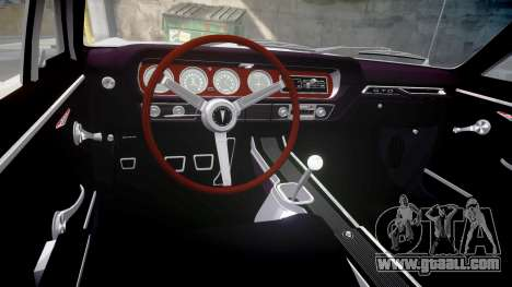 Pontiac GTO 1965 united for GTA 4 inner view