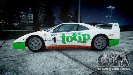 Ferrari F40 1987 [EPM] Jolly Club for GTA 4 left view
