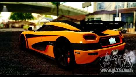Koenigsegg One:1 v2 for GTA San Andreas left view