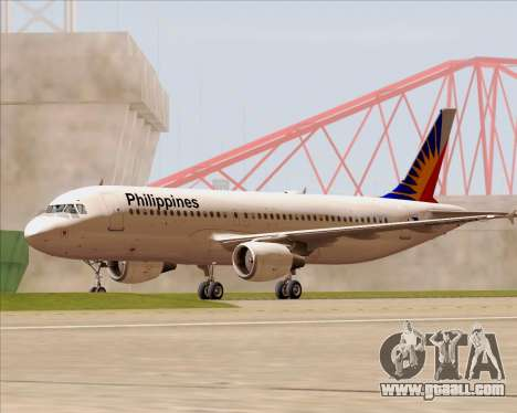 Airbus A320-200 Philippines Airlines for GTA San Andreas bottom view