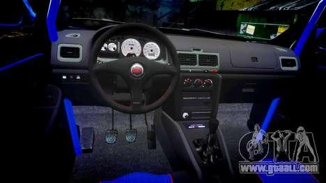 Subaru Impreza WRC 1998 v4.0 World Rally for GTA 4 back view