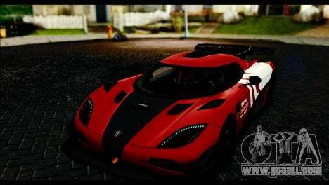 Koenigsegg One:1 v2 for GTA San Andreas upper view