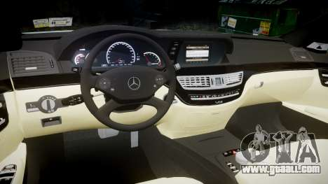 Mercedes-Benz S65 W221 AMG v2.0 rims1 for GTA 4 inner view