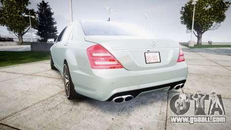 Mercedes-Benz S65 W221 AMG v2.0 rims1 for GTA 4 back left view