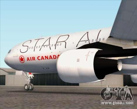 Airbus A330-300 Air Canada Star Alliance Livery for GTA San Andreas wheels