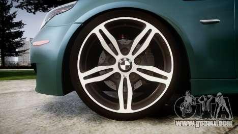 BMW M5 E60 v2.0 Stock rims for GTA 4 back view