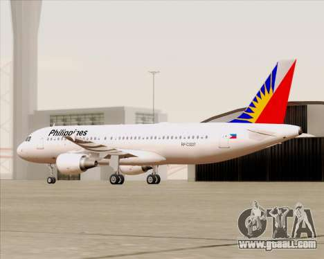 Airbus A320-200 Philippines Airlines for GTA San Andreas side view