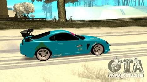 Toyota Supra Blue Lightning for GTA San Andreas back left view