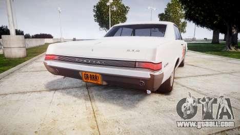 Pontiac GTO 1965 united for GTA 4 back left view