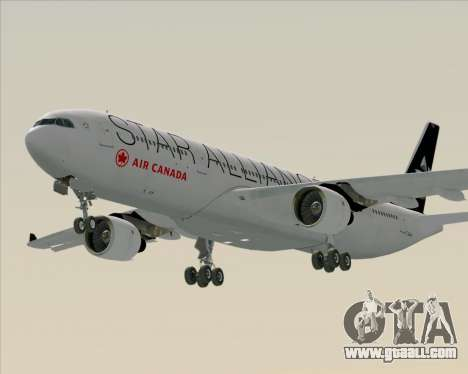 Airbus A330-300 Air Canada Star Alliance Livery for GTA San Andreas back view