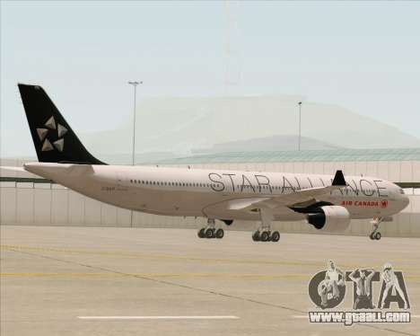 Airbus A330-300 Air Canada Star Alliance Livery for GTA San Andreas inner view