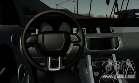 Range Rover Evoque 2014 for GTA San Andreas back left view