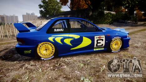 Subaru Impreza WRC 1998 v4.0 World Rally for GTA 4 left view