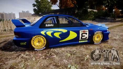 Subaru Impreza WRC 1998 v4.0 World Rally for GTA 4 left view