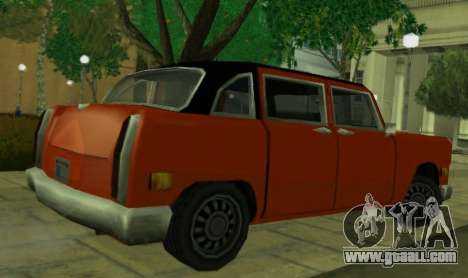 Cabbie Restyle for GTA San Andreas back left view