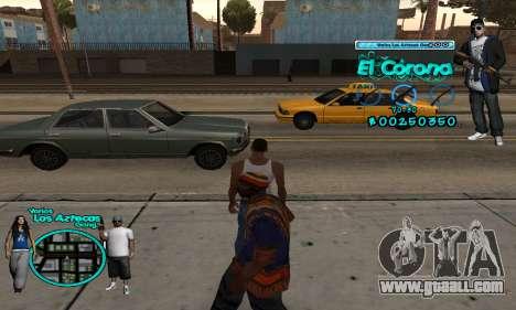 C-HUD Aztec El Corona for GTA San Andreas second screenshot