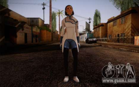 Dr. Eva Sci Fi New Face from Mass Effect for GTA San Andreas
