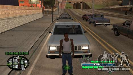 C-HUD Smoke Weed for GTA San Andreas