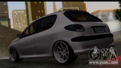 Peugeot 206 Drift JDM Style for GTA San Andreas left view