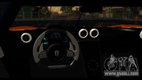 Koenigsegg One:1 v2 for GTA San Andreas back left view