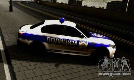BMW M5 E60 POLICIJA for GTA San Andreas left view