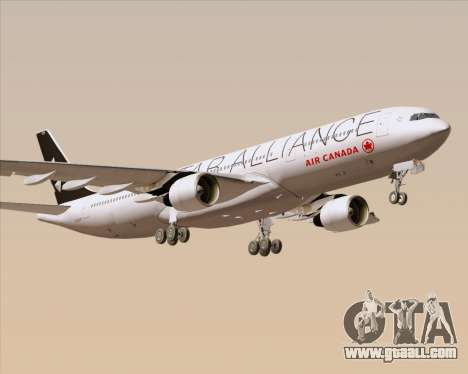 Airbus A330-300 Air Canada Star Alliance Livery for GTA San Andreas side view
