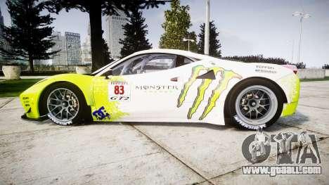 Ferrari 458 GT2 for GTA 4 left view