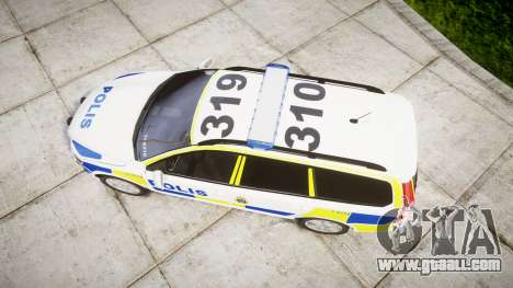 Volvo V70 2014 Swedish Police [ELS] Marked for GTA 4 right view