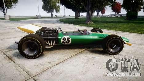 Lotus Type 49 1967 [RIV] PJ25-26 for GTA 4 left view