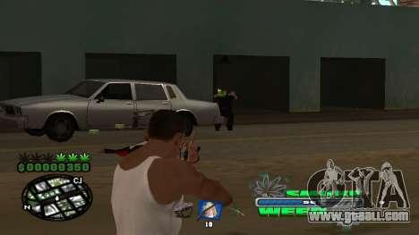 C-HUD Smoke Weed for GTA San Andreas sixth screenshot