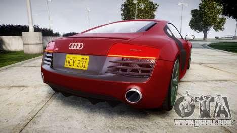 Audi R8 V10 Plus 2014 for GTA 4 back left view