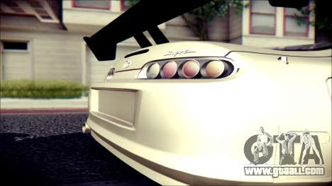 Toyota Supra Street Edition for GTA San Andreas back left view