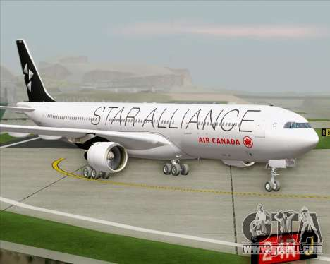 Airbus A330-300 Air Canada Star Alliance Livery for GTA San Andreas back left view